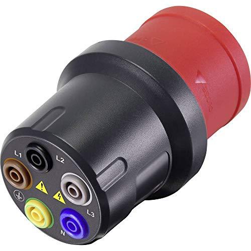 VOLTCRAFT VMA-3L 32 Messadapter CEE-Stecker 32 A 5polig - Buchse 4 mm Dunkelgrau, Rot