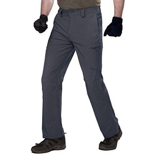 FREE SOLDIER Gratuit Soldat pour Homme Séchage Rapide Pantalon Tactique Portable et Pliable Pantalon Cargo pour Le Camping randonnée d'escalade, Gris foncé, (32W) UK
