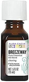 Aura Cacia Breezeway Essential Oil Blend   GC/MS Tested for Purity   15ml (0.5 fl. oz.)