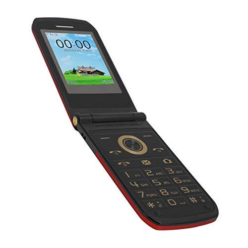 Teléfono móvil abatible para personas mayores,Mini teléfono móvil con botón grande de 2,4 pulgadas GSM Teléfono móvil con doble modo de espera para personas mayores,32 MB+32 MB,batería 3800 mAh(EU)
