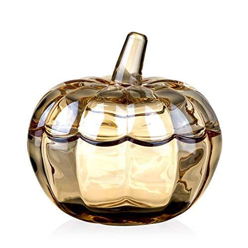 Nologo CUJUX Crystal Castle Candy Dish Stripe Snack Bowl Jar Fruit Container Caja de Almacenamiento de Joyas con Mango de Bola Banquete Hogar Pantalla de Escritorio Centro de Mesa