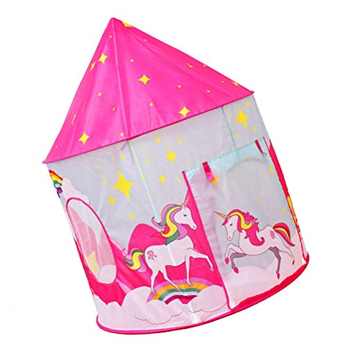 TOYANDONA Kids Play Tent Unicorn Play Tent Playhouse Princess Castle Tent Washable Kids Space Tent for Indoor Outdoor Christmas Party Supplies