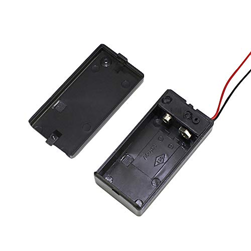 DaierTek 3pcs 9V Battery Holder with ON Off Switch Cover Lead Wires 9 Volt Battery Case Connector
