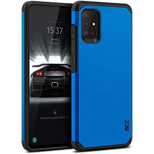 BEZ Hülle für Samsung Galaxy A51 Hülle, Handyhülle Tasche Stoßfestes Kompatibel für Samsung A51, [Heavy Duty Serie] Outdoor Dual Layer Armor Case Handy Schutzhülle Robuste, Blaue Marine