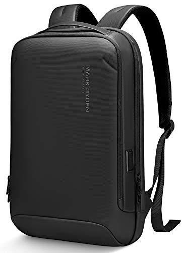 Markryden slim Laptop Backpack with USB Charging Port Water-Resistant School Travel Work backpack Lightweight Businese Bag Fits 15.6 Inch Laptop