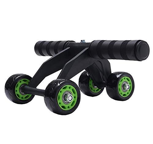 YLJYJ Abdominal Wheel Roller, 4 Wheel Exercise Roller mit Einer rutschfesten Fitnessmatte Core Muscle Exercise Workout Ausrüstung für Männer Frauen zu (Sport)