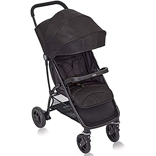 Graco Breaze Lite Pushchair/Stroller (Birth to 3 Years Approx, 0-15 kg), Lightweight and Easy Fold, Black