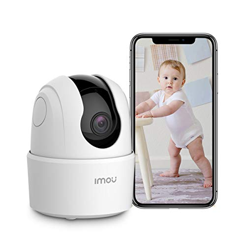 Indoor Security Camera 1080p Baby Monitor 360 Degree Wireless WiFi Camera (2.4G Only) with App, Night Vision, 2-Way Audio, Human Detection, Motion Tracking, Sound Detection, Local & Cloud Storage