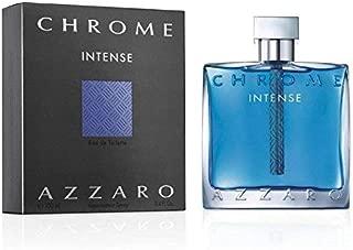 Azzārŏ Chrŏmė Intensė Cologne for Men 3.4 fl. Oz / 100 ml Eau De Toilette Spray