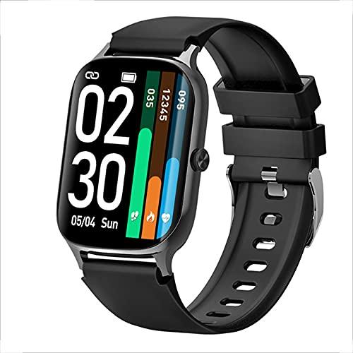 Reloj Inteligente, Reloj Inteligente con Pantalla Táctil De 1,7'para Hombres Y Mujeres, Monitor De Frecuencia Cardíaca, Monitor De Sueño, Podómetro, Rastreador De Actividad A Prueba De Agua IP68