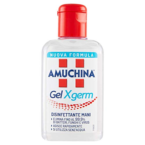 4 PZ AMUCHINA GEL XGERM DISIFETTANTE MANI 80 ML [TOTALE 320 ML]