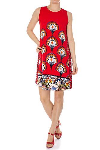 Desigual Damen Dress Sleeveless Vento Woman RED Kleid, Rot (Rojo Roja 3061), Medium