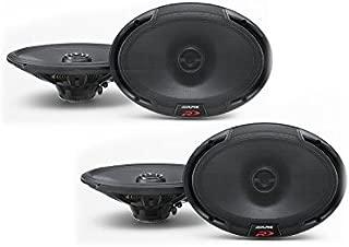 Alpine SPR-69 6x9 Coaxial 2-Way Speaker Set Bundle