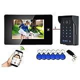 Visiophone/Interphone connectée avec digicode et Badges + télécommande