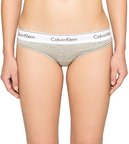 Calvin Klein Damen MODERN Cotton-Thong String, Grau (Grey Heather 020), XS