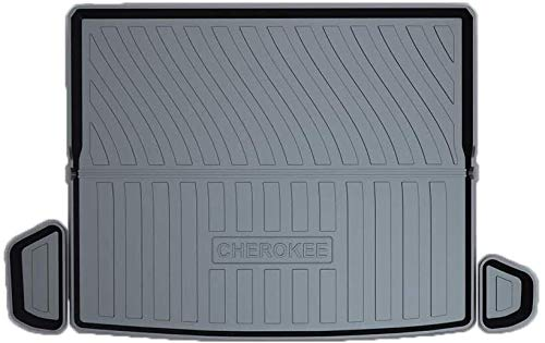 QIANSHI Trunk mat Protection Cargo Mat/Trunk Liner (Custom Tailored) Fit for Jeep Cherokee 2019 All Season Cargo Tray,Black,Colour:Black Rear luggage cushion (Color : Black)