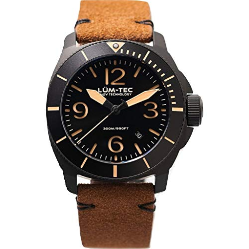 Lum-Tec M87 Quartz Wrist Watch | Leather Strap Black