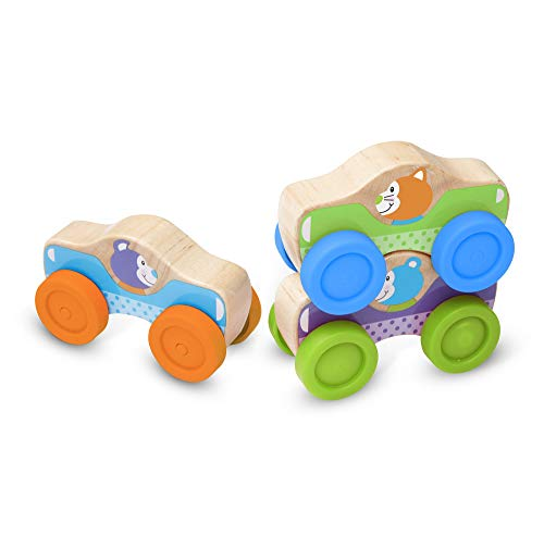 Melissa & Doug First Play - 3 Voitures Bois empilables