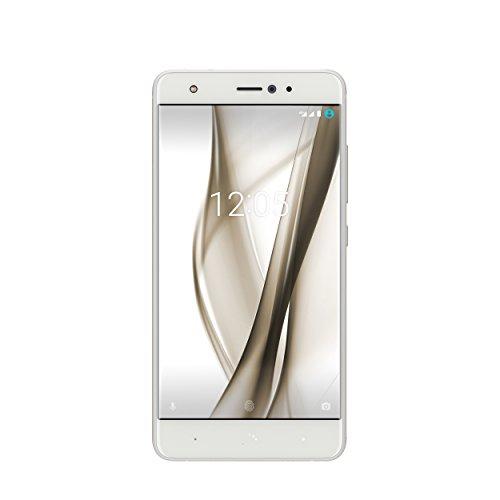 """BQ Aquaris X Pro - Smartphone de 5.2"""" (Nano SIM, Bluetooth 4.2, Octa Core 2.2 GHz, 64 GB de Memoria Interna, 4 GB de RAM, cámara de 12 MP, Android 7.1.1 Nougat) Blanco"""