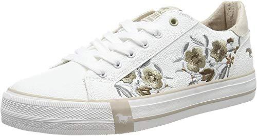 Mustang Damen 1313-303-14 Sneaker, Weiß (Weiß/Beige 14), 41 EU