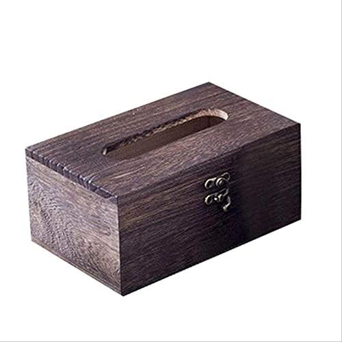 MYGZFF Caja de Toalla de Papel de bambú Retro para el hogar Oficina de Oficina Oficina de Madera Papel de Madera Tissue Caja de Papel Servilleta Marco de Madera Can LAN L.
