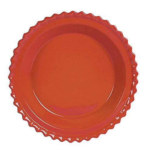 Chantal Ceramic Pie Dish, 9-Inch, Cinnabar