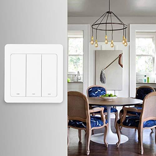 Botón pulsador del interruptor de WiFi, interruptor de luz inteligente de 3 vías, para el uso en el hogar de Google Echo Dot de Alexa en interiores