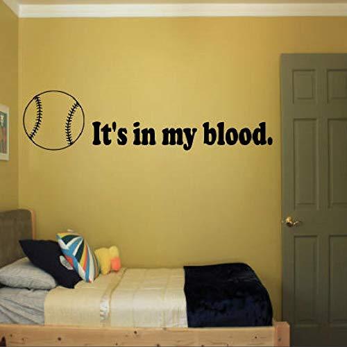 HNXDPWandaufkleberEs Ist In Meinem Blut Wanddekor Abnehmbare Schlafzimmer Poster Jungen Design Home Windows Tür Wandaufkleber J080 57X13 CM
