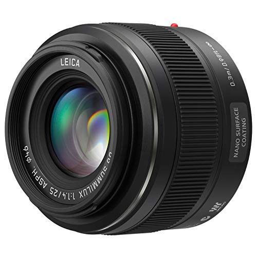 PANASONIC LUMIX G Leica DG SUMMILUX Lens, 25mm, F1.4 ASPH, Mirrorless Micro Four Thirds, H-X025...