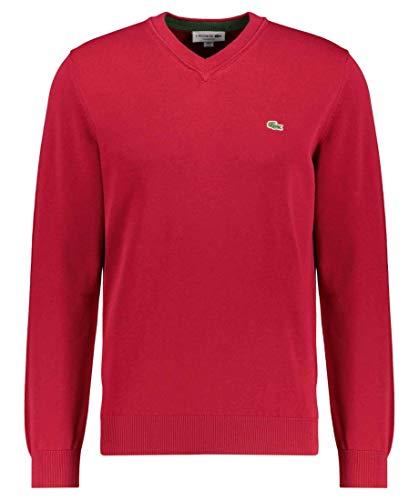 Lacoste Herren AH2183 Rollkragenpullover, Stehkragen Oberteil Reißverschluss einfarbig Uni klassisch Basic Sweater Sweatjacke,Bordeaux (476),XS (2)