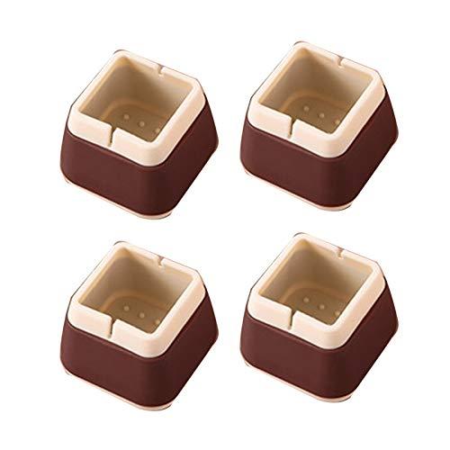 puran Lot de 4 protège-pieds antidérapants en silicone épais résistant à l'usure Café A