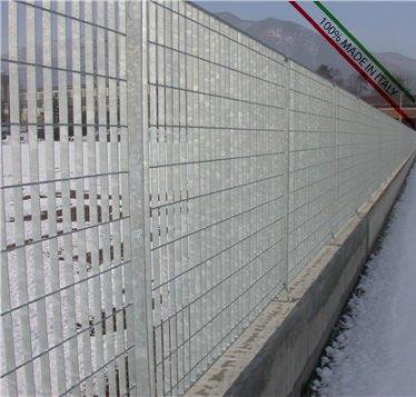 ITALFROM Pannello Recinzione CANCELLATA RINGHIERA PARAPETTO GRIGLIATO in Ferro ZINCATO-Maglia:mm69X132 - Misura:mm1992x 1195 h