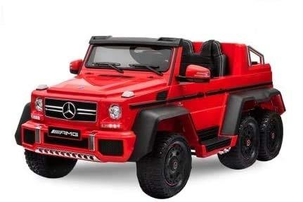 Mercedes G63 AMG XXL Kinderauto Elektroauto Kinderfahrzeug Geländewagen Jeep SUV 6X 35W Motoren 12V / 14Ah Rot