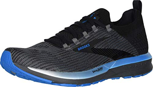 Brooks Herren Ricochet 2 Running Shoe, Black/Grey/Blue, 44.5 EU