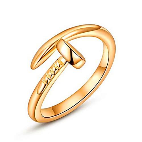 Madlst Verstellbarer Ring für Nägel, modernes Geschenk gold