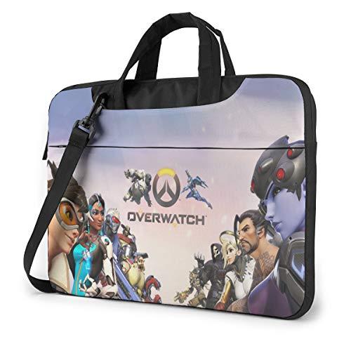 Overwatch Laptop Shoulder Messenger Bag,Shockproof Laptop Case Sleeve Fits For14 Inch Laptop and Tablet,in Fashion School Shoulder Bags