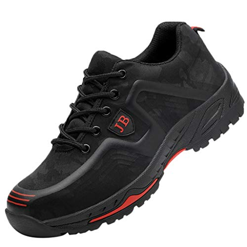 Best Deals! MENGQIN ⭐⭐ Men's Steel Toe Work Shoes Women Breathable Safety Shoes Sporty Protectiv...