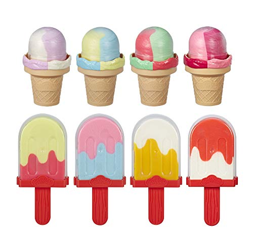 Play-Doh Ice Pops N Cones Freezer Plus Pack with 8 Airtight Containers Filled with Non-Toxic Compound