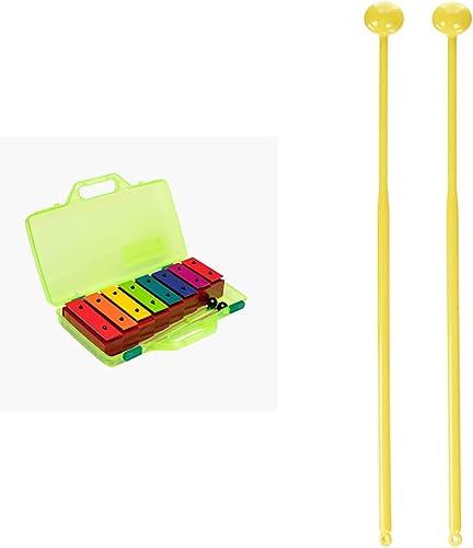 Fuzeau – 8288 - Mini-métallonotes - 8 Lames Métal & 8846 - Paire de mailloches ou baguettes pour Carillon pianot' rou...