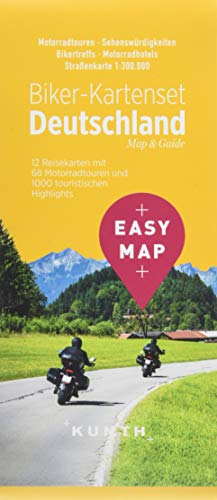 EASY MAP Biker-Kartenset Deutschland: 12 Motorradkarten 1:300.000 (KUNTH EASY MAP: Reisekarten)