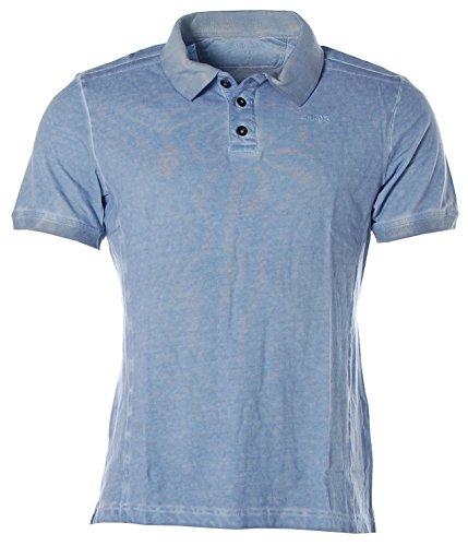 Signum Herren Kurzarm Shirt T-Shirt Poloshirt Polokragen Pikee Provinzial Blue M