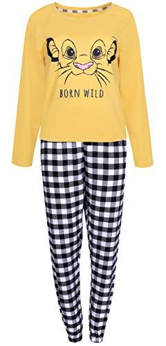 Gelb-schwarzer Pyjama Lion King Large