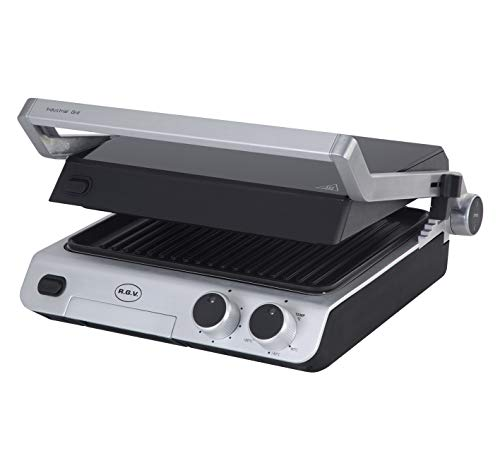 RGV Industrial Grill Griglia di Contatto da Tavolo Elettrico 2000W Acciaio Inossidabile