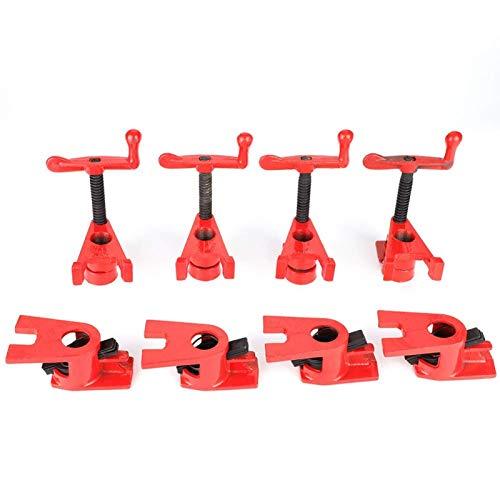 Morsetti per la lavorazione del legno, 4 set di morsetti a sgancio rapido per impieghi gravosi a base larga in ferro e legno Set di morsetti in metallo per la lavorazione del legno Strumento per banco