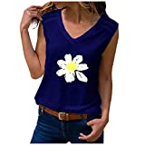 VIVIYY Casual Sleeveless Tank Tops Summer Women's Cute Printed Loose Fit Running Exercise Yoga Workout T-Shirt Holiday