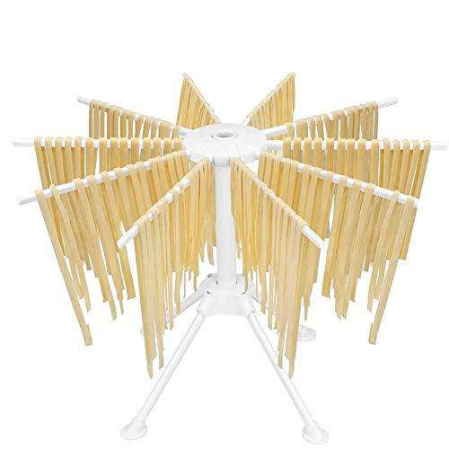 MOCOLI Nudeltrockner Nudelständer, Pastatrockner Nudelstände mit 10 Row Zusammenklappbare Stabile Handgemachte Nudel hängen Stehen Geschirr Hausgemachte Pasta Gadget