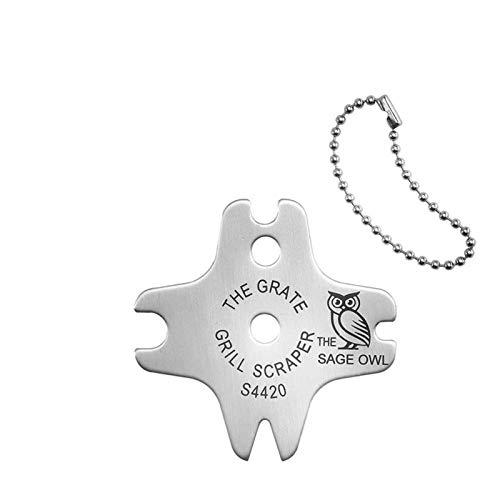 Edelstahl-Grillschaber, 2-teiliger, borstenfreier, sicherer Grillschaberreiniger, perfekte Grillreinigungswerkzeuge - Funktioniert mit den meisten Grillrosten