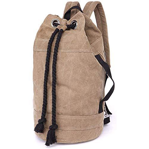 Cestbon Rucksäcke Damen Herren Daypacks Seesack Leinwand Rucksack Canvas Reisetaschen Umhängetasche Weekender Schultertaschen,Braun