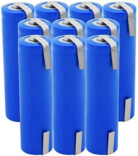 Batería De Iones De Litio Icr18650 De 3,7 V 2800 Mah De Alta Potencia con Dos Celdas De Pestañas De Bricolaje para Cámara De Luz Led Mini Ventilador-10 Piezas