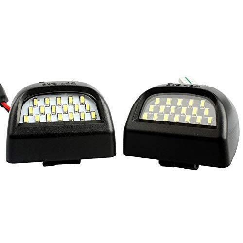 Luces de matrícula de Coche 2 UNID/Set Error LED LED LIGNO NÚMERO Placa LÁMPARAS DE LUZ Compatible con Chevrolet SILULADO 1500 2500 3500 3500 Avalanche Suburban GMC Yukon Impermeable